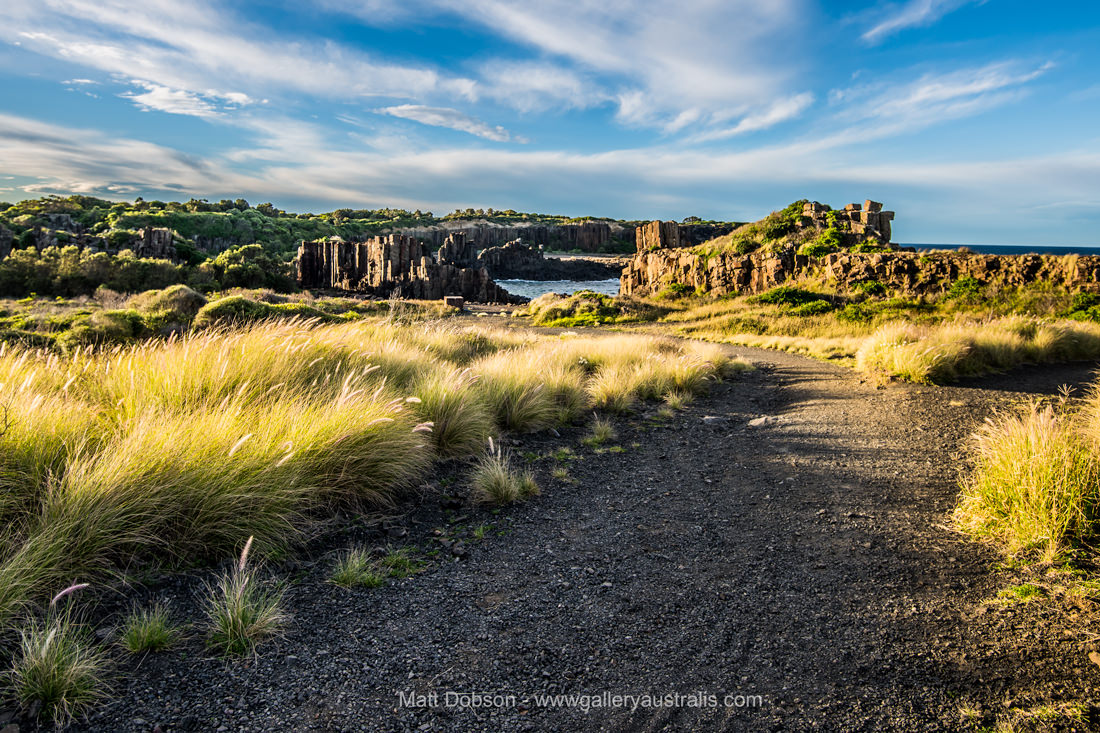 The walk down to Bombo Headland Quarry