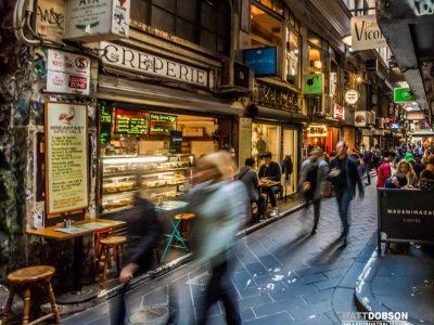 Melbourne Street Photography – Laneway Cafes – CBD