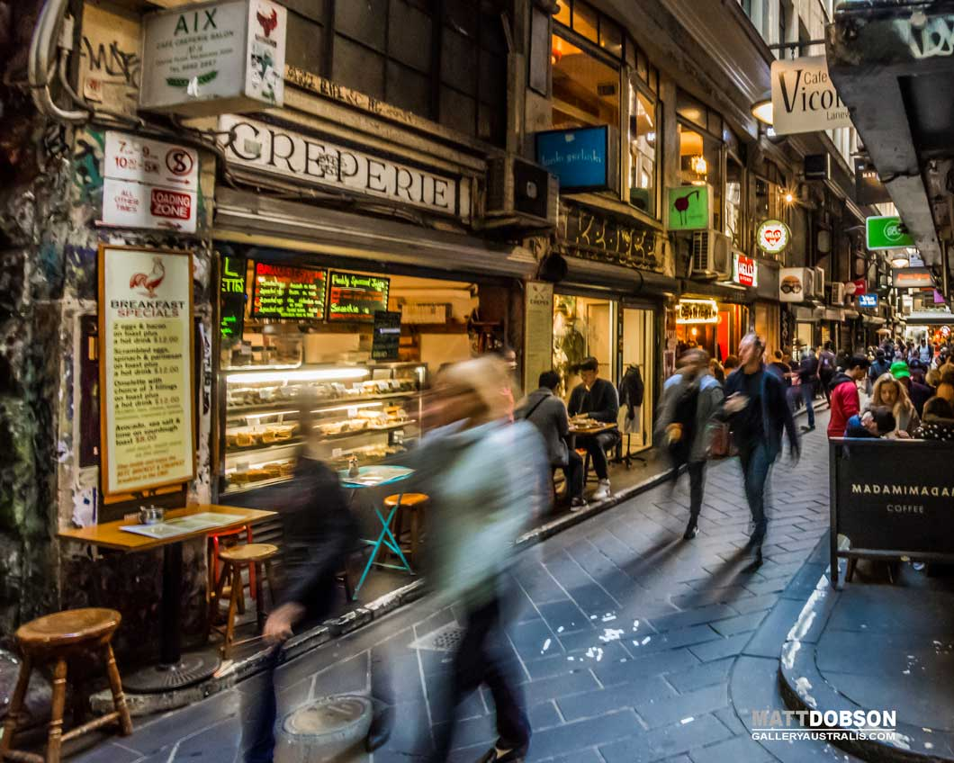 Melbourne CBD Laneway Cafes HDR Street Photography