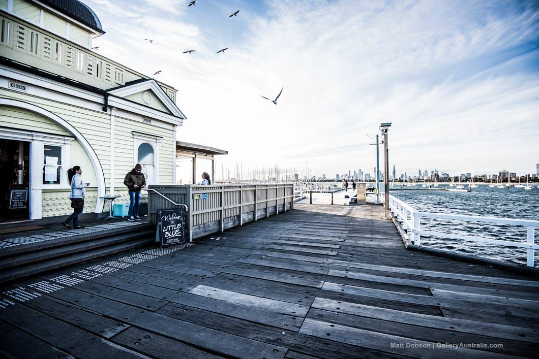 St Kilda Pier Port Phillip Bay Melbourne Kiosk