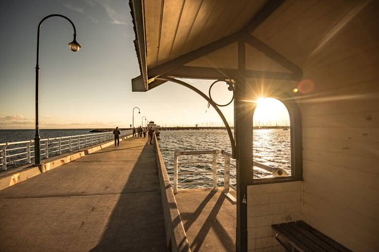 Shelter on St Kilda Pier
